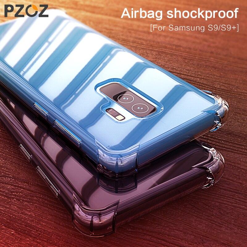 Pzoz fino à prova de choque caso proteção do telefone para samsung galaxy s9 s9 plus s8 s8 mais nota 8 caso capa de luxo escudo snapdragon