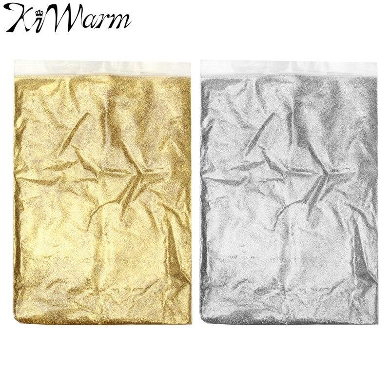 KiWarm-polvo fino brillante de plata y oro de 100g, Arte de papel de cerámica en polvo, adornos para manualidades DIY, suministros de Material para manualidades