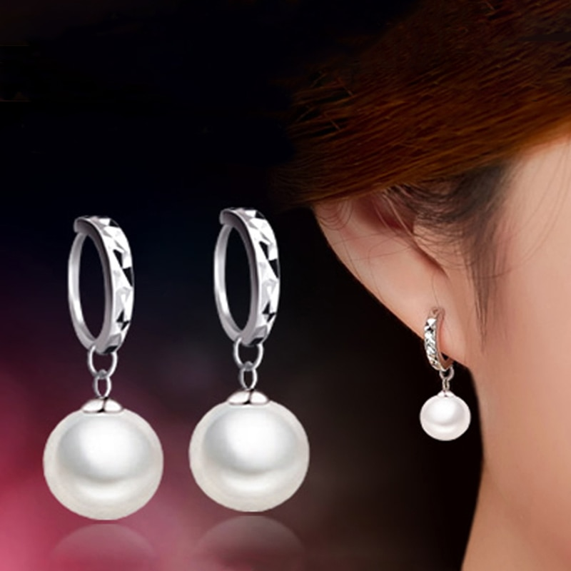 Clássico parafuso prisioneiro brincos temperamento 10mm pérola para brinco nova jóias femme earing orecchini bijoux