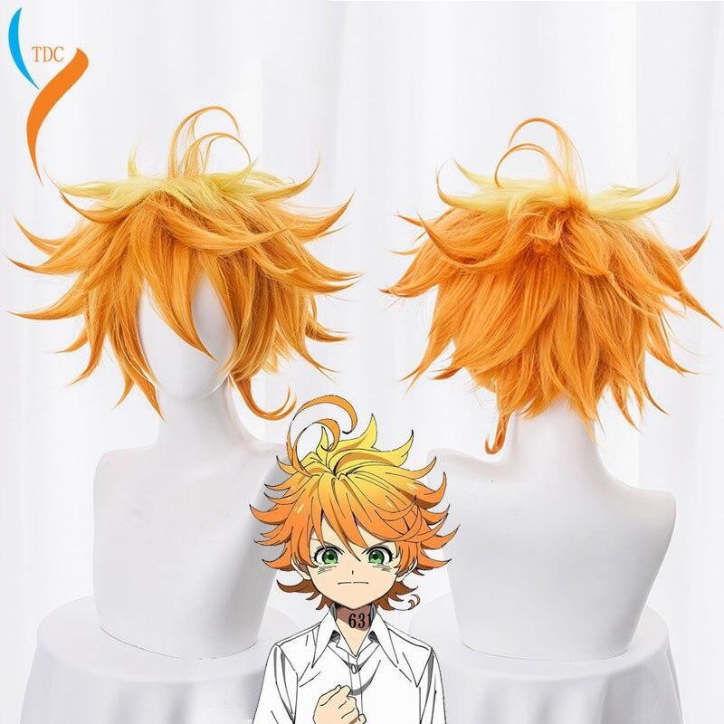 Женский парик для косплея Emma, оранжевый парик из аниме Yakusoku no Neverland, 63194 обещанный Косплей Neverland, 2019