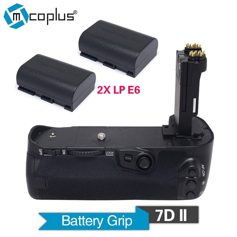 Mcoplus Venidice 7DII Empuñadura de batería vertical con 2 uds. Baterías de LP-E6 para cámara Canon EOS 7D Mark II BG-E16 como Meike MK-7DII