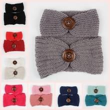 2 pièces/ensemble nouvelle maman et bébé tricot bandeau ensemble femmes Crochet oreille chaud chapeaux Turban enfants chapeaux accessoires de cheveux