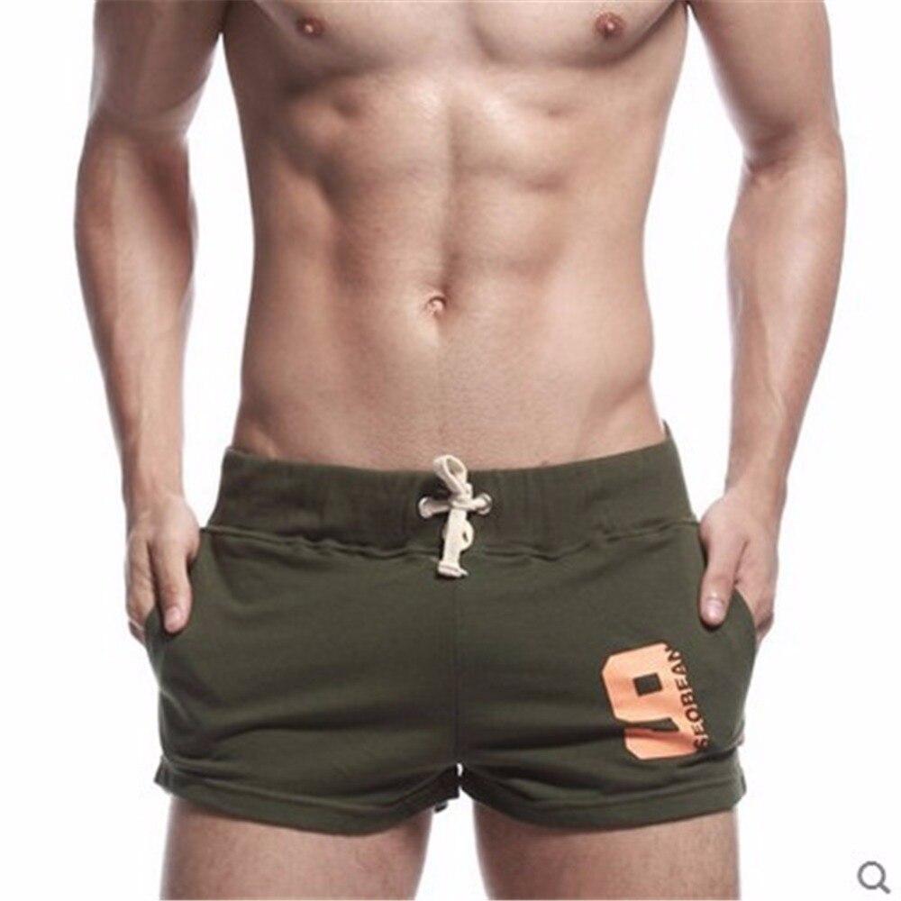 2018 nuevo verano seobean hombres shorts algodón Fitness culturismo longitud corta Bermudas Masculina