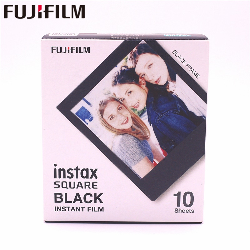 Fujifilm Instax Square Instant Black Frame Film 10 Sheets for Instax square SQ10 Hybrid format share sp-3 SQ instant camera