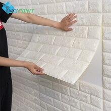 3D наклейки на стену из пенополистирола, водонепроницаемые наклейки на стену, сделай сам, самоклеящиеся наклейки на стену для гостиной, домашнего декора, спальни, кухни