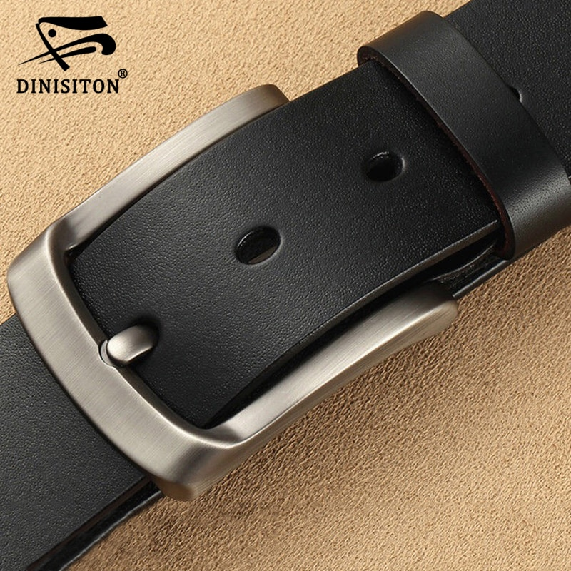 DINISITON men's genuine leather belt luxury brand belts for mens High Quality Cowhide Male Strap Hot