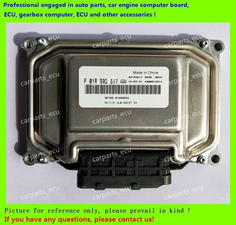 Para Wuling del motor del coche del ordenador de a bordo/ME7.8.8/ME17 ecus/unidad de Control electrónica/F01RB0D517/F01R00D517 ME788 01606094