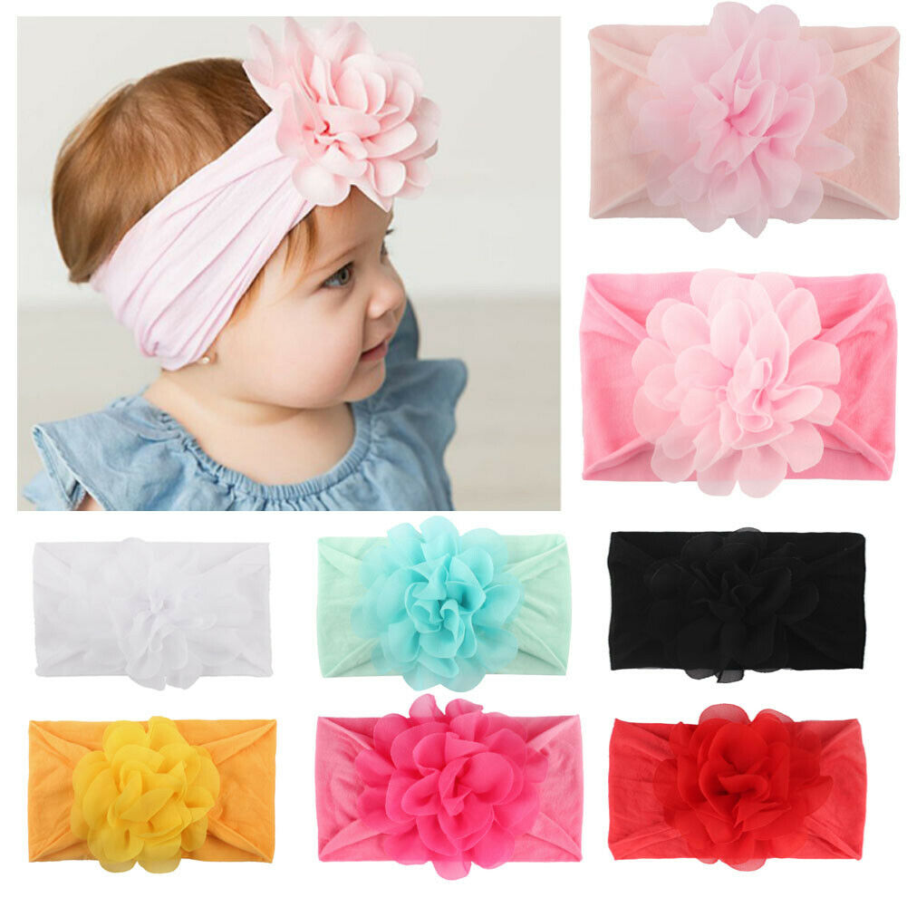 Newborn Baby Girl Boys Headwear Flower Headband Hairband Headwear Hair Accessories