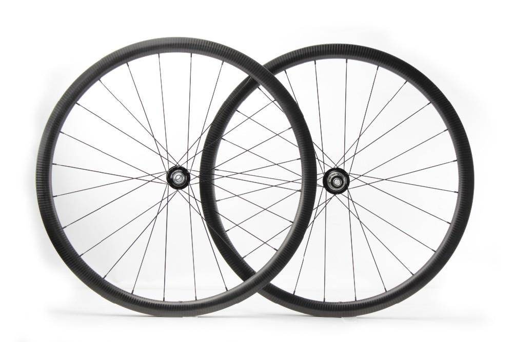 Juego de ruedas de freno de pista de carbono compatible con Tubeless, FSC35-CM-26DSL grava T11 CHRIS KING 35mm 26mm