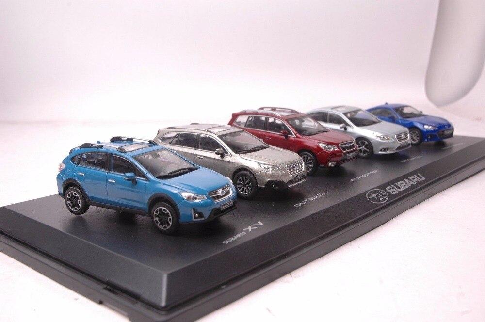 Zestaw pięciu 143 Model odlewu dla Subaru serii XV Outback Forester Legacy BRZ samochodzik-zabawka ze stopu metali kolekcja miniatur prezenty