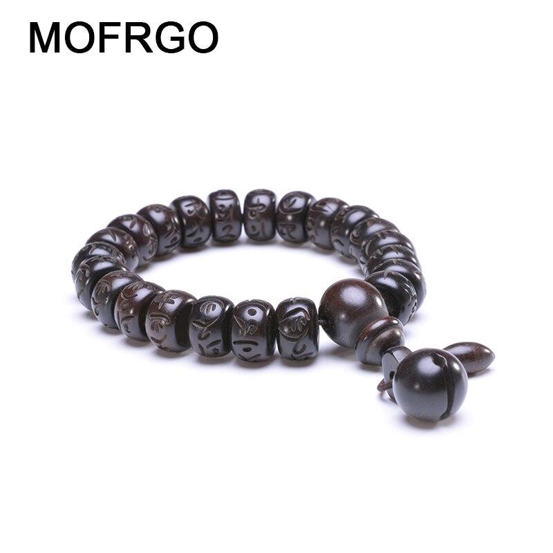 Tibetan Buddhist Mala Buddha Bracelet Natural Wood Bead Bracelet OM Meditation Yoga Prayer Bracelets For Men Women Jewelry Gift