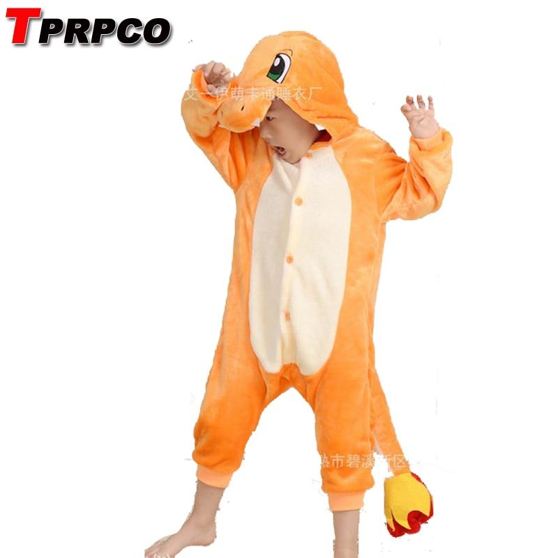 Pop anime pokemon Charizard mono pijamas, traje charmander fire dragon Niño, mono Unisex para fiesta, niños, Onesie NL1381