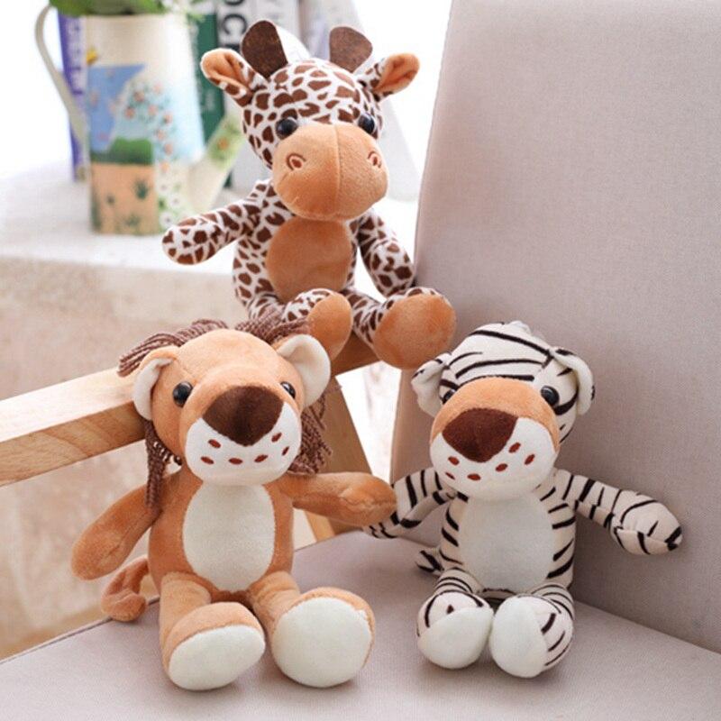 1 ud. 20cm bosque animales peluches muñeca de peluche jungla serie animales, León, tigre leopardo jirafa juguetes niños regalo