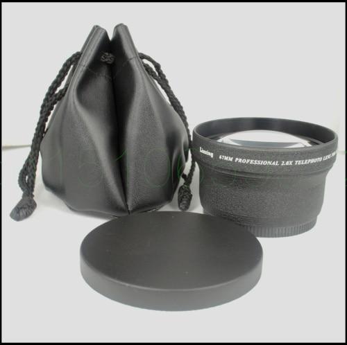 67 мм 2.0X телеобъектив TELE для цифровой камеры 2X 67 черный