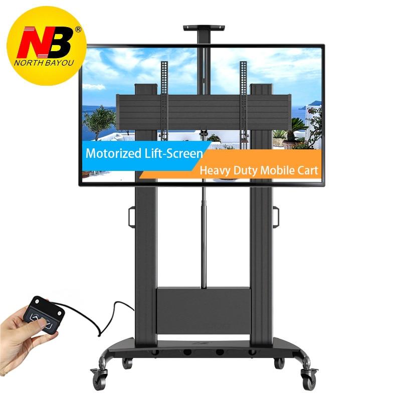 Моторизованный подъемный экран NORTHBAYOU TW100, сверхмощный телекронштейн, подходит для большинства 60-100 дюймовых плоских панелей, ЖК-Телевизор с ...