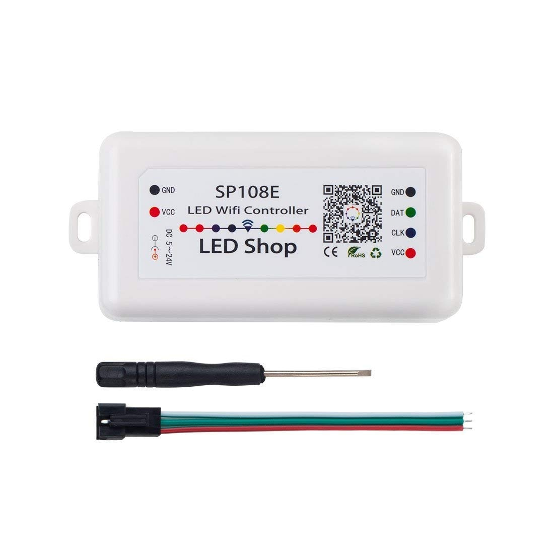 SP108E controlador inalámbrico Bluetooth APP WS2811 WS2812B WS2801 SK6812 APA102 individualmente direccionable, programable