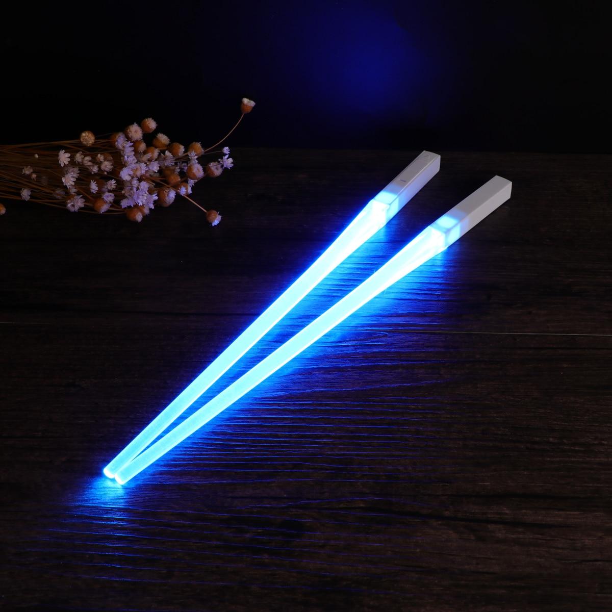 Палочки для еды со светодиодсветодиодный подсветкой, 1 пара