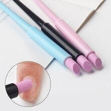 1 Uds pluma para molienda manicura uña pluma de cuarzo removedor de cutícula empujador cortador lijado pulido herramientas de cuidado de uñas