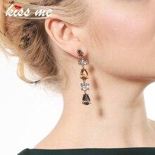 Embrasse-moi nouvelle Collection goutte deau cristal boucles doreilles de mariage charme longues boucles doreilles femmes bijoux de fête