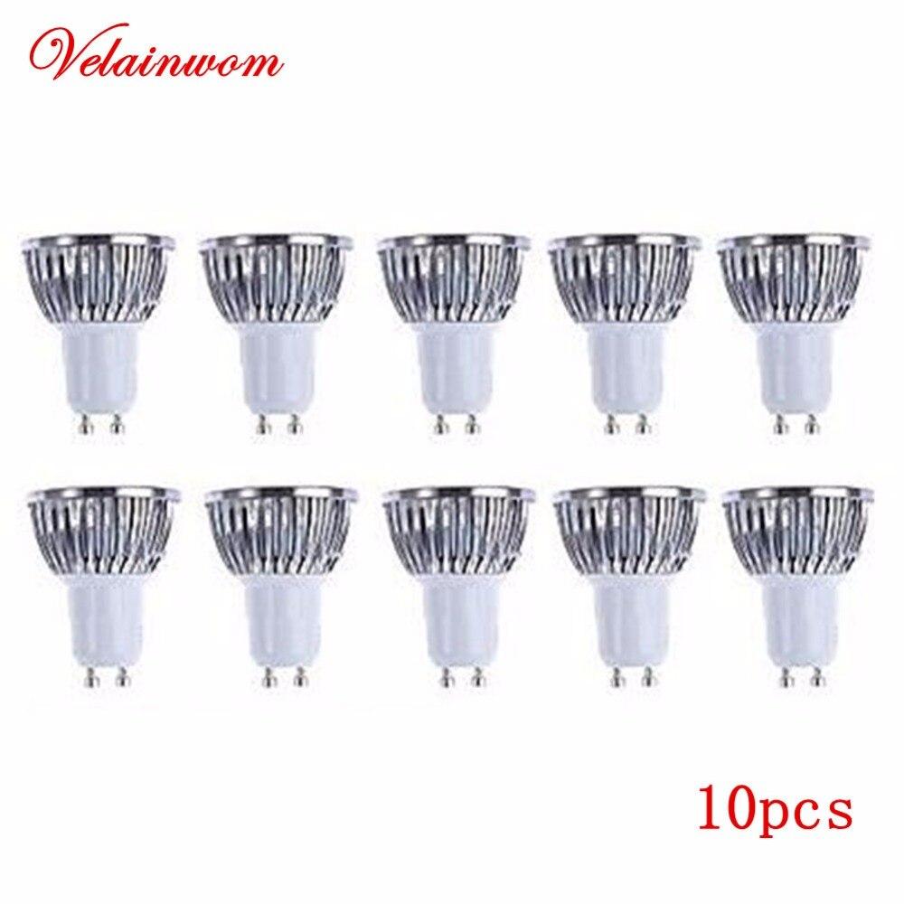 10pcs lot mr16 led spot light glass body ac dc12v 5w dimmable cob led spotlight bulb warm white cold white GU10 Bulb Dimmable COB Led Spotlight Lamp 6W/9W/12W AC85-265V Warm/Cold White LED Light Free Shipping 10pcs/lot