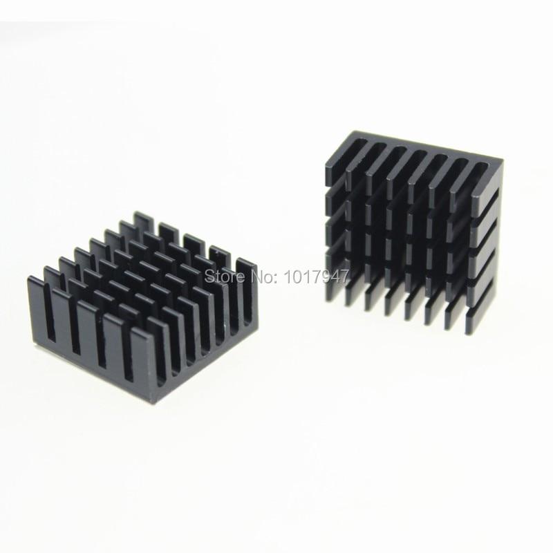 5 Pieces LOT IC Chipset 20mm x 20mm x 10mm Chip Radiator Aluminum Heatsink Black