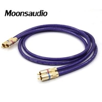 pair van den hul mc silver it 65 rca audio interconnect cable with gold plated rca plug