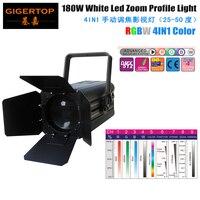 מצוין TP-016 180 w RGBW 4IN1 COB LED זום סטודיו אור אמריקאי DJ מגה בתוספת LED אלומיניום Par יכול לשטוף אפקט אור