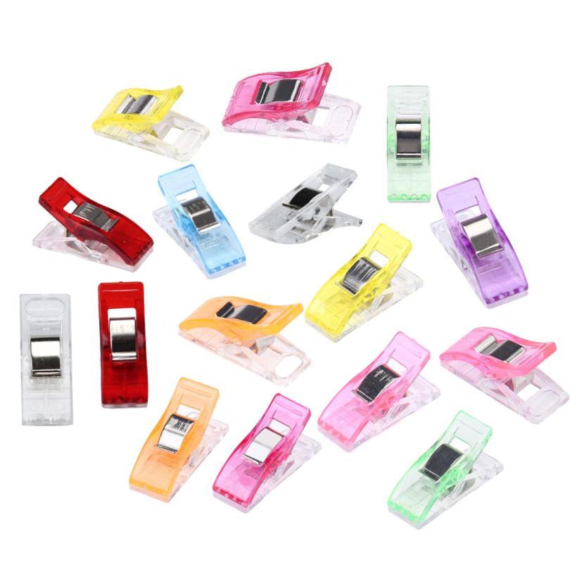 50 pçs colorido ofício de costura quilt emperramento grampos de plástico pacote maravilhoso 2.10