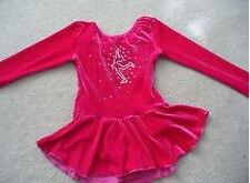 Vestido de patinaje rojo para entrenamiento de figura ropa de patinaje sobre hielo negro ropa de patinaje sobre hielo patinador envío gratis