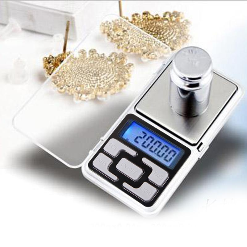 200g x 0.01g Mini Balança Digital de Bolso para Jóias de Prata Esterlina Ouro Balanças Eletrônicas Display LCD Balance Gram Eletrônico escalas