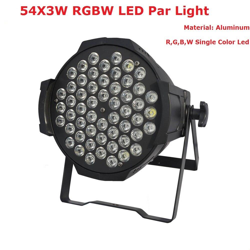 Hot Sales 2020 Newest LED Par Can 54X3W RGBW Single Color LED Par Lights With 7 DMX Channels For Professional Stage Dj Lights