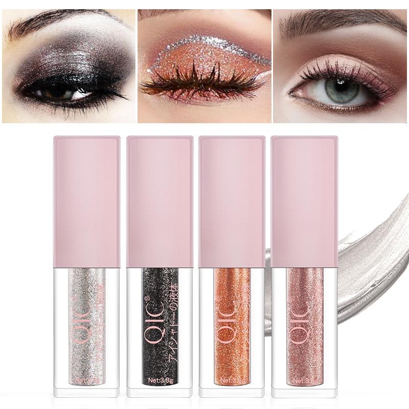 Paleta de sombras de ojos, nuevo líquido, fácil de poner, resistente al agua, pigmento de belleza, útiles de maquillaje