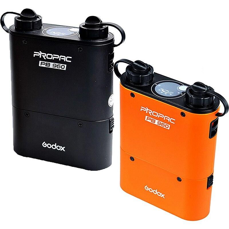 Godox-فلاش طاقة ، PB960 ، مخرج مزدوج ، Speedlite, بطارية طاقة ، 4500 مللي أمبير ، لكانون ، نيكون ، سوني ، GODOX ، YONGNUO (أسود أو برتقالي)