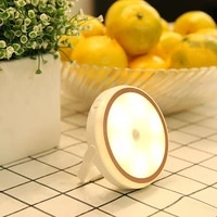 motion sensor lights night light led lamp portable usb rechargeable stick on lighting for bedroom stairs kitchencloset