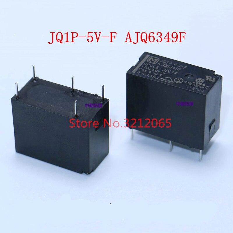 10 uds/lotPower de JQ1P-5V-F AJQ8349F JQ1P-12V-F AJQ6341F JQ1P-24V-F AJQ6342F 10A 5PIN nuevo original