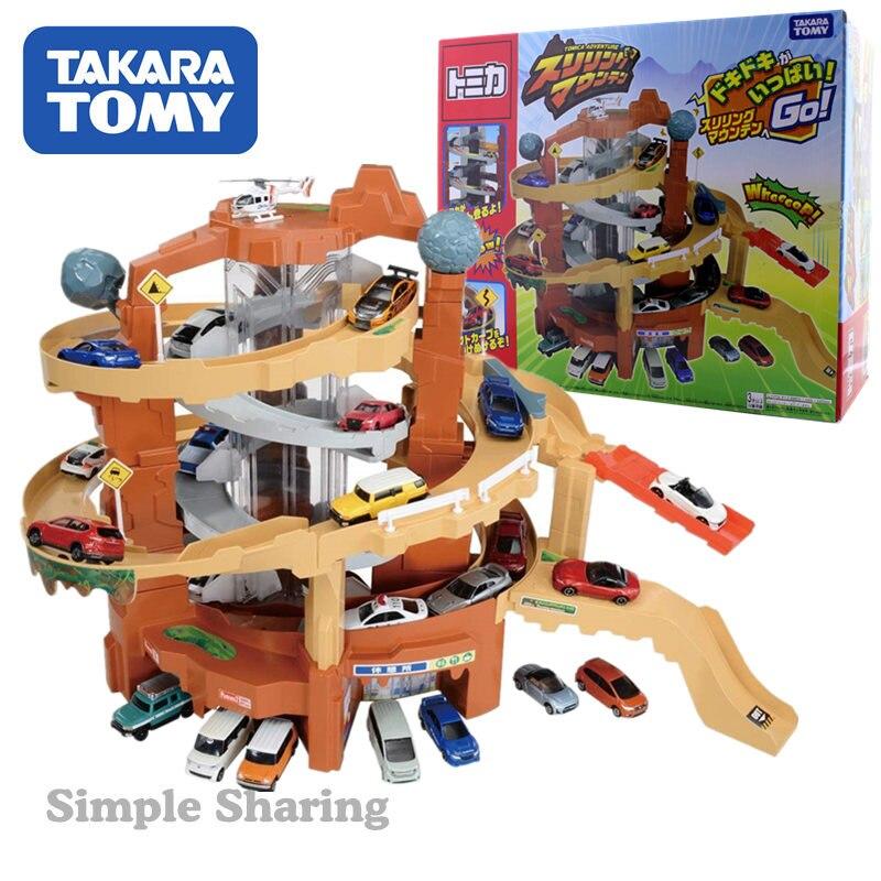 takara tomy tomica carro eletrico com pista conjunto de brinquedos para meninos montanha
