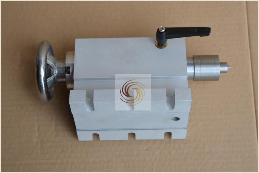 النقش آلة الرابع محور رمح من تايلستوك محور دوران أجزاء كبيرة تلميح البقاء أعلى CNC تقسيم رئيس 1 قطعة