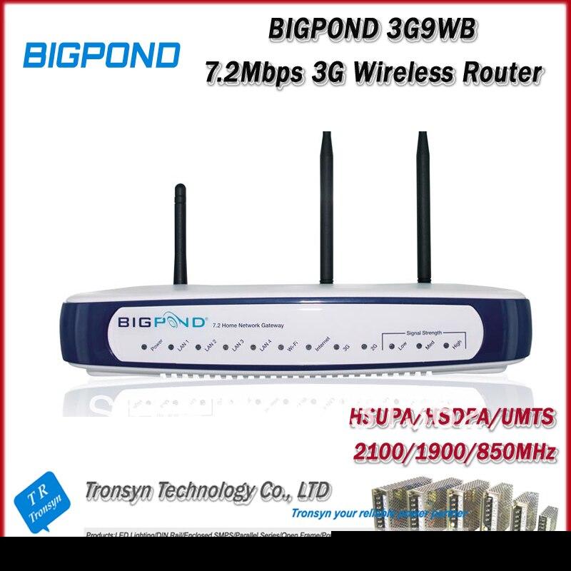 Cheapest Original Unlock HSDPA 7.2Mbps BigPond 3G9WB 3G Wireless Router With Ethernet RJ45 Port