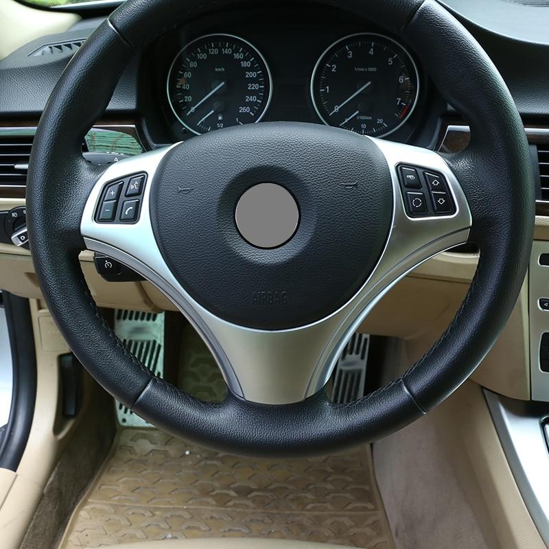Accesorios para BMW E90 3 Series 2005-2012 para BMW E87 1 serie 2004-2011, accesorios para coche, decoración de botón para volante de coche ABS, embellecedor de Marco