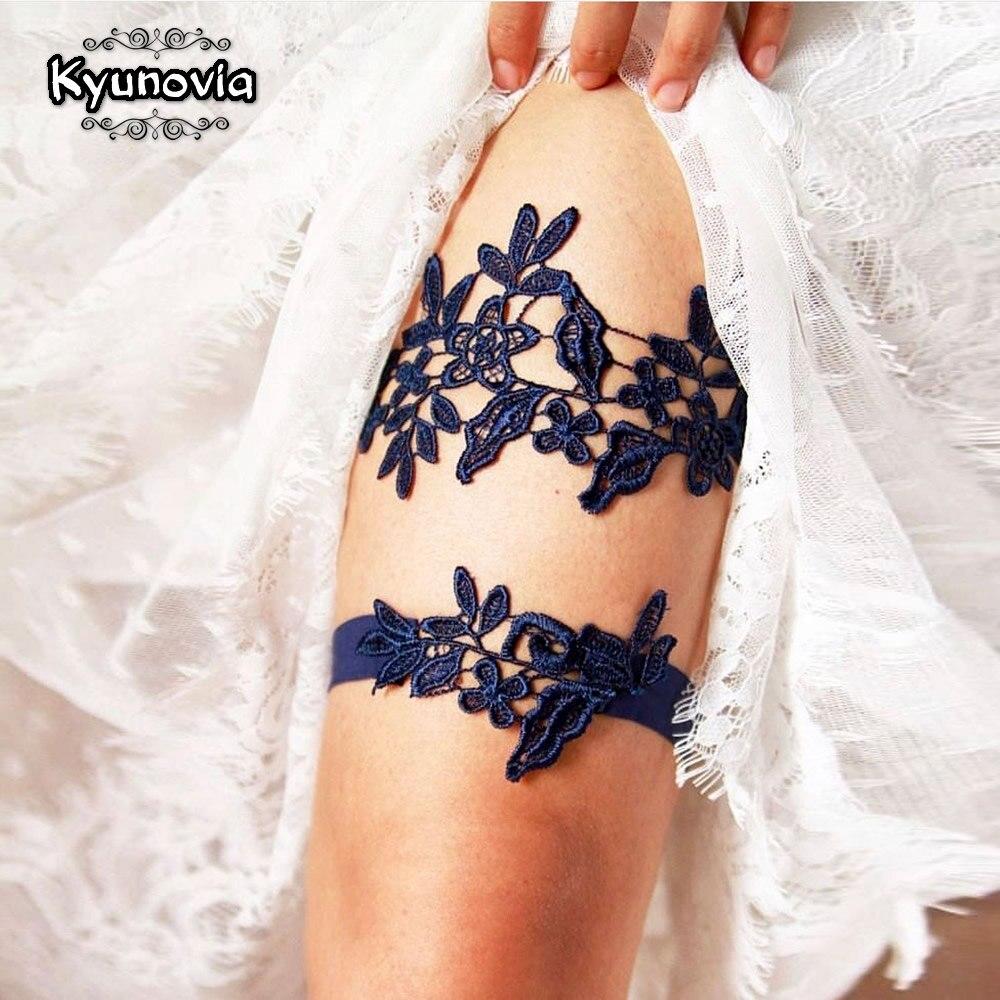 Kyunovia 1 комплект из 2 предметов, пикантная Черная Кружевная подвязка для девушек, принцесс, эластичный комплект свадебной подвязки, подружки ...