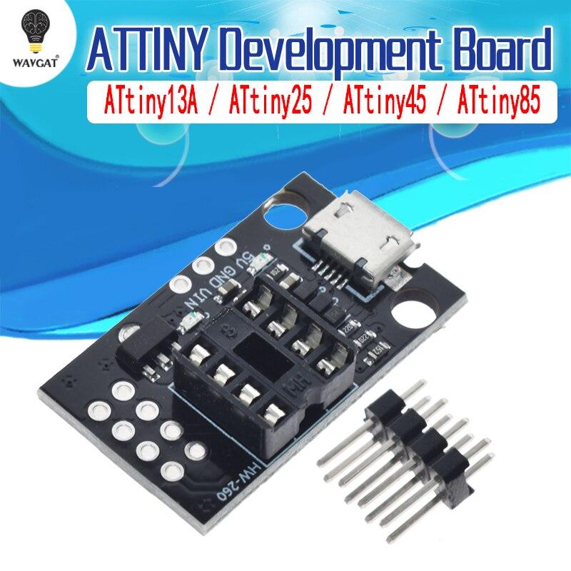 ATtiny13A/ATtiny25/ATtiny45/ATtiny85 Подключаемая плата для разработки программ