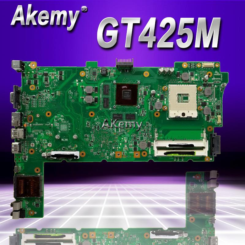 Placa base de ordenador portátil Akemy N73JF para For Asus N73JQ N73JF N73JG N73J N73 placa base original de prueba GT425M soporte i7