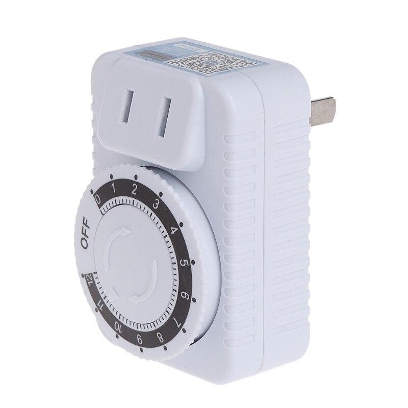 AC 220 в 12 часов Электрический механический таймер настенный выключатель цифровой таймер обратного отсчета розетка