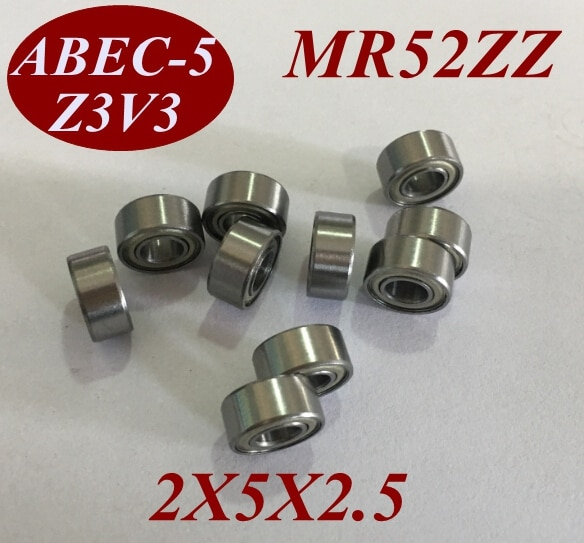 10 piezas MR52Z MR52ZZ MR52 ZZ MR52-ZZ 2x5x2,5 MM 2*5*2,5 MM miniatura herramientas de rodamiento de bolas de ranura profunda de motor de microeje