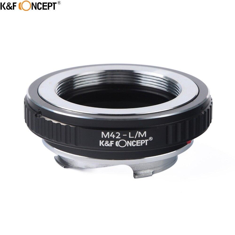 K & F CONCEPT M42-L/M anillo adaptador de lente de cámara para 42mm M42 lente de montaje para Leica M M9 M6 M18 M2 M6 M3 M5 Cuerpo de Cámara