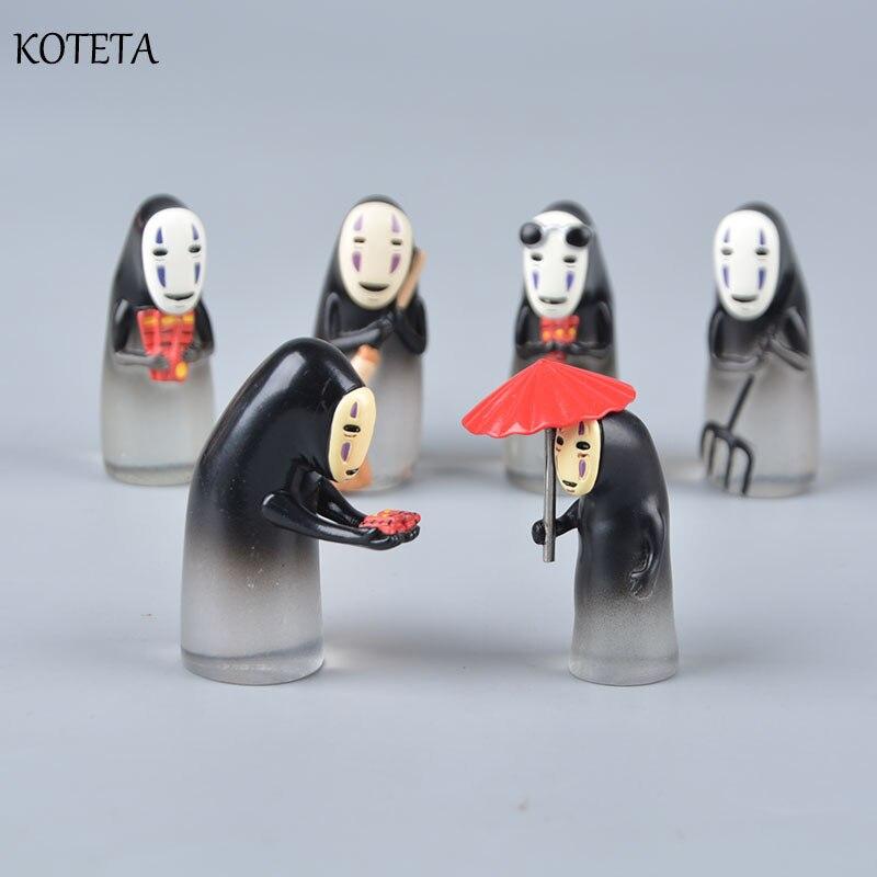 Koteta animé japonés Hayao Miyazaki, figura de acción de resina de hombre sin rostro coleccionable, juguetes para niños, regalo de Navidad