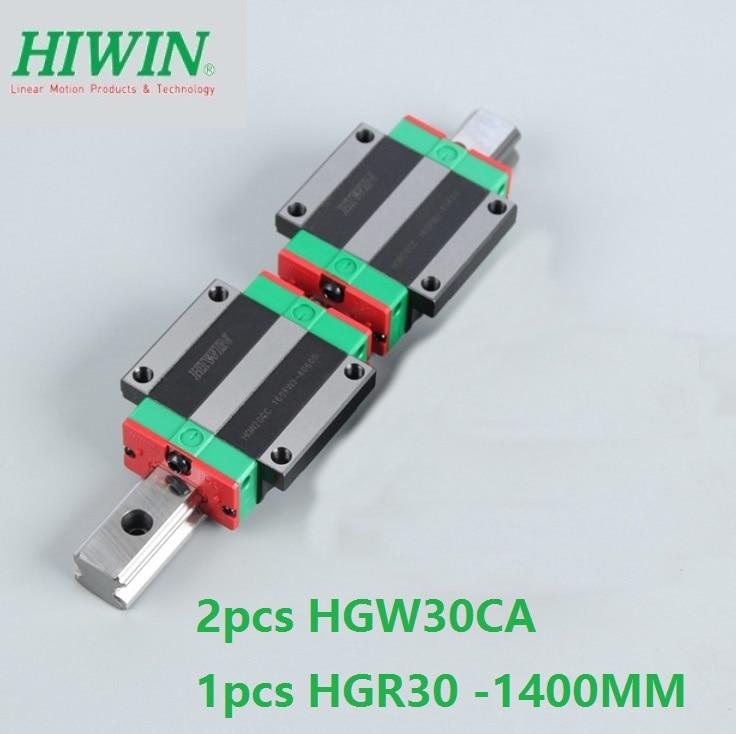 1 قطع 100% الأصلي Hiwin خطي السكك الحديدية HGR30-L 1400 ملليمتر + 2 قطع HGW30CA HGW30CC مشفه النقل ل cnc راوتر
