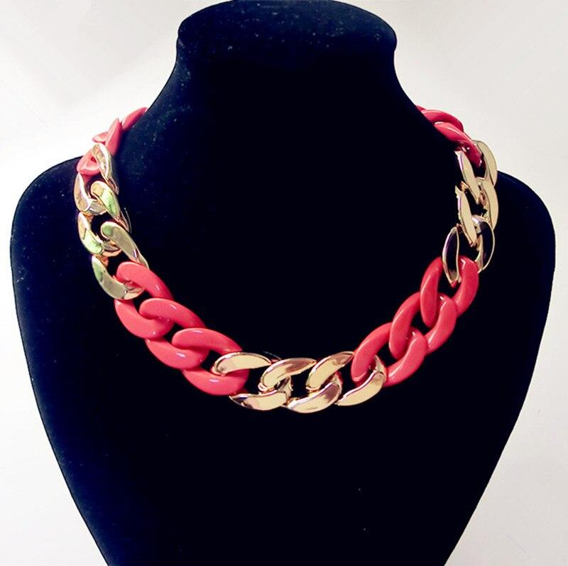 Declaración de la cadena de oro grueso Collares Collar para las mujeres largo Collar para mujer Collares y colgantes collar de la joyería de traje