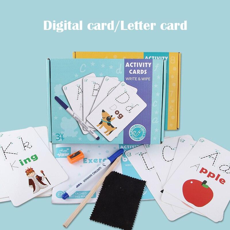 Детский обучающий Английский алфавит/Цифровая карта Запись и протирание