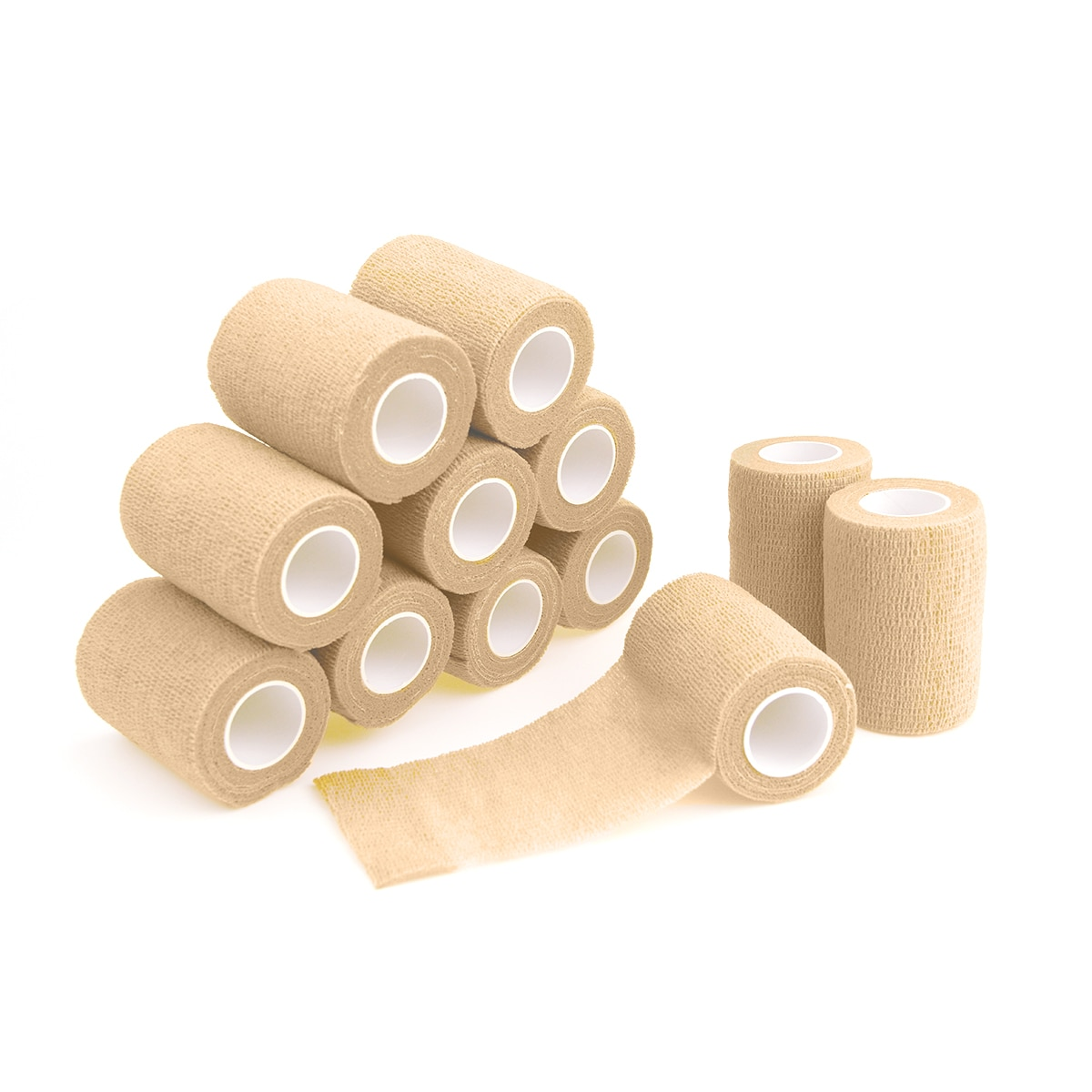 12 Rolls 7.5cm Self Adhesive Bandage Waterproof Nonwoven Bandage Breathable Sport Tape Muscle Wraps Medical Health Care